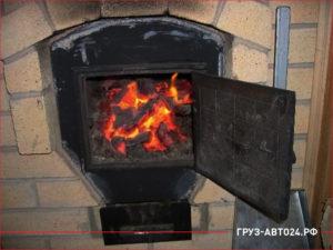 Кирпичная печь работающая на угле