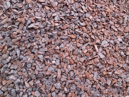 Красный мелкий скальный грунт