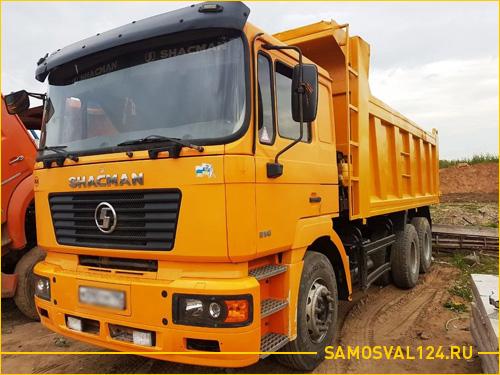 Огромный желтый грузовик Shaanxi Shacman