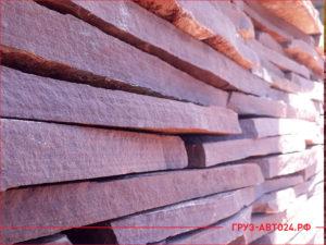 Ровные плиты красного природного камня