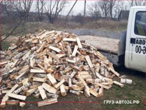 Газель привезла березовые дрова