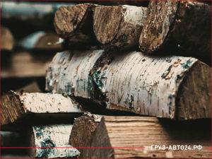 Стопка березовых дров